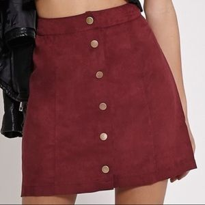 Forever 21 suede button front skirt
